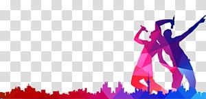 dua orang memegang mikrofon geometris, Poster Musik Siluet Bernyanyi, Siluet orang bernyanyi png