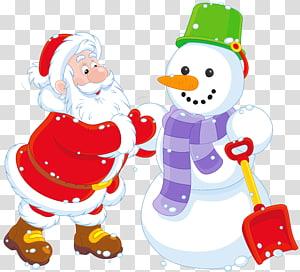 ilustrasi manusia salju dan Santa Claus, Desa Natal Santa Claus Santa Snowman Film, Santa dan Snowman png