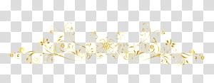 Pola Putih, garis bingkai emas Eropa, bunga kuning png