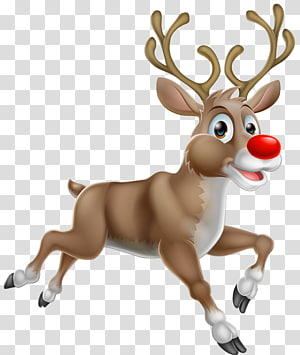 Ilustrasi Rudolph The Red Nosed Reindeer, Rudolph Santa Claus's reindeer Santa Claus's reindeer, Christmas Rudolph png