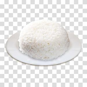 cangkir nasi di atas piring keramik putih bulat, nasi putih nasi putih beras ketan Basmati, nasi png