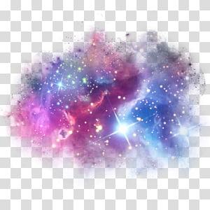Stiker Galaxy Unicorn PicsArt Studio Tanduk, galaksi, berwarna-warni png