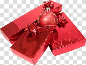 Perhiasan dan hadiah Natal merah, Hadiah Natal png