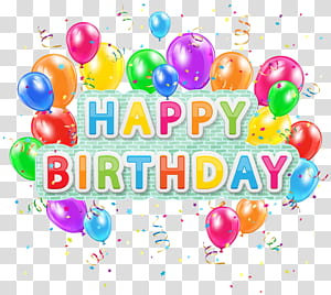 Balon Ulang Tahun, Teks Deco Selamat Ulang Tahun dengan Balon, teks selamat ulang tahun dan ilustrasi balon png