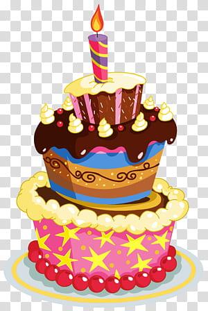 Kue ulang tahun, Kue Ulang Tahun Berwarna-warni, ilustrasi kue 3-lapis aneka warna png