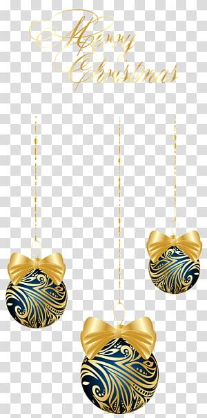 tiga ilustrasi bola natal biru dan kuning, ornamen Natal, Bola Gantung Natal Biru Tua png