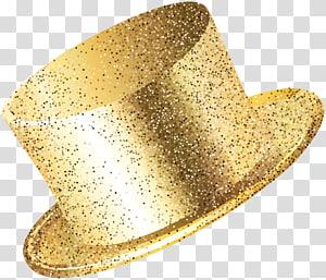 ilustrasi topi berwarna emas, Topi Pesta Tahun Baru Emas PNG clipart