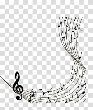 Catatan staf musik, Hitam paranada dengan bahan catatan musik, g-clef dan ilustrasi catatan musik PNG clipart