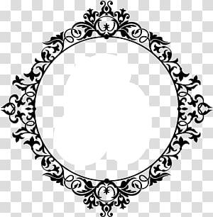 ilustrasi abstrak putih dan hitam, surat monogram, arabesco PNG clipart