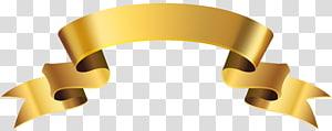 ilustrasi pita coklat, Pita Kertas, Golden Banner Deco PNG clipart