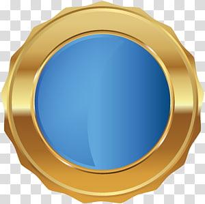 emblem bulat, Desain Produk Lingkaran Microsoft Azure, Lencana Segel Emas Biru PNG clipart