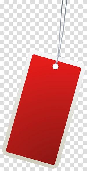 kartu merah, Label Kertas, Label Merah PNG clipart