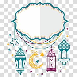 Idul Fitri Idul Fitri Idul Adha, bulan, konsep bingkai putih dan warna-warni PNG clipart