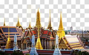 candi merah dan kuning, Kuil Buddha Zamrud Wat Arun Grand Palace Thonburi Chao Phraya, Rumah Thailand png