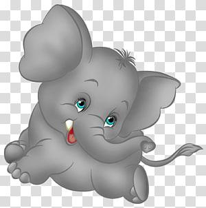 Kartun Gajah, Abu-abu Kartun Gajah Gratis, ilustrasi gajah abu-abu png