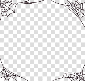 bingkai web laba-laba, Spider web Halloween All Saints \ Day, Halloween sarang laba-laba png
