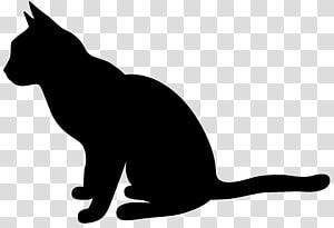 Siluet Kucing, Siluet Kucing PNG clipart