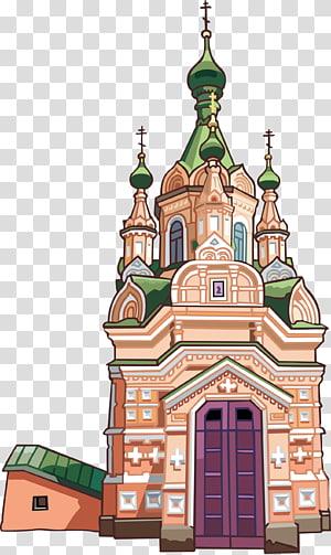 Katedral Kristus Gereja Juruselamat Saint Basils Cathedral Temple, castle PNG clipart