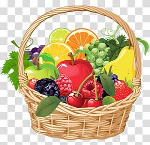 Keranjang Hadiah Buah, Keranjang Buah, berbagai buah dalam ilustrasi keranjang png