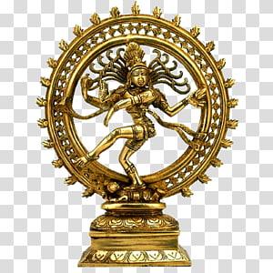 Shiva Nataraja Dance Dance Statue, lord shiva, patung nataraja berwarna emas png