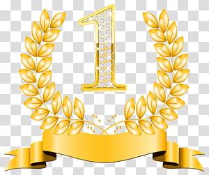 , First Place, ilustrasi nomor 1 berwarna emas png