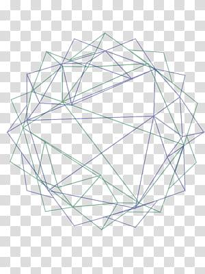 Polygon Line Geometry Euclidean, Latar belakang geometri abstrak, ilustrasi string hijau dan biru png