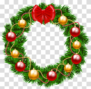 ilustrasi lingkaran hijau dan merah, Karangan Bunga Natal Garland, Karangan Bunga Natal png