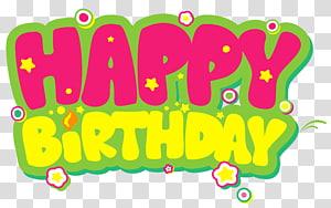 Kue ulang tahun, Selamat Ulang Tahun Kuning dan Merah Muda, ilustrasi selamat ulang tahun png