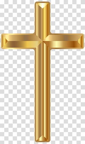 File Gold Cross Computer, Gold Cross, salib dekoratif berwarna emas png