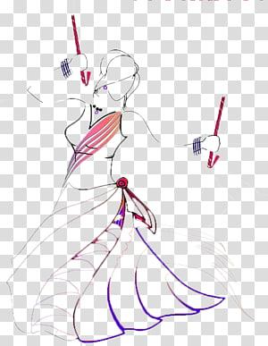 ilustrasi sketsa berwarna perempuan, tarian rakyat Dandiya Raas Navaratri Garba, garba png