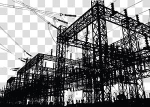 siluet catu daya listrik, Pembangkit listrik Tenaga listrik Tenaga listrik, Konstruksi rute png