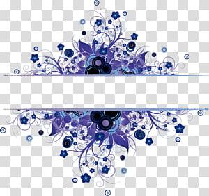 Tekstur, Tekstur Bahan gesper tepi biru gratis, templat perbatasan bunga ungu png