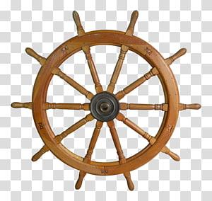 helm kapal coklat, Roda Kapal Wood Helmsman, setir png
