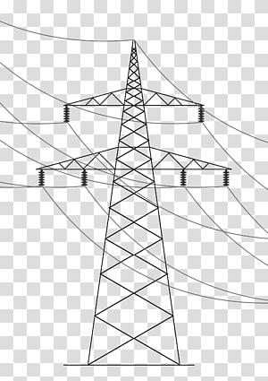 Saluran listrik overhead. Transmisi daya listrik Menara transmisi Garis seni, tegangan tinggi png
