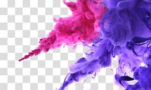 ilustrasi asap ungu dan merah muda, Warna Tinta, Efek asap PNG clipart
