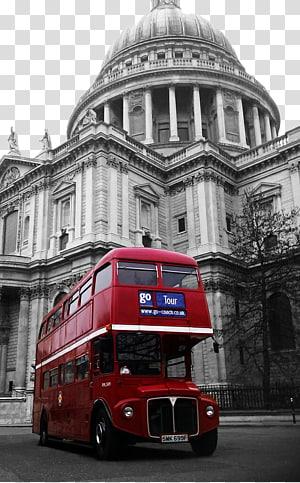 Katedral St Pauls Millennium Bridge, London Double-decker bus AEC Routemaster, London red bus dan arsitektur Eropa PNG clipart