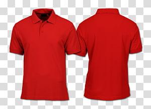 T-shirt Hoodie Polo shirt Templat, Polo, dua polo shirt merah png