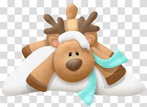 rusa kutub di atas salju, Rudolph Reindeer Christmas Santa Claus, Rudolf Art png