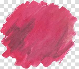 Brush Cat Air lukisan Euclidean, sikat grafiti Watercolor merah, cat merah PNG clipart
