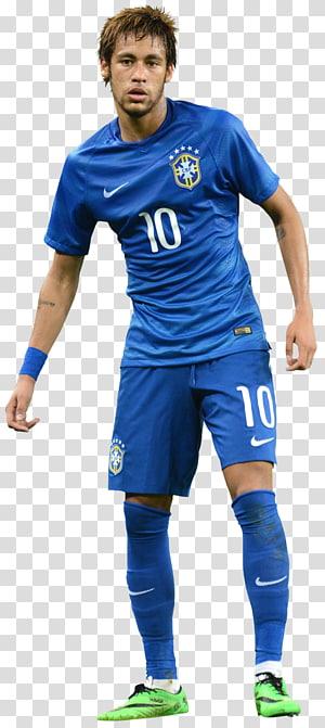 pria yang mengenakan jas biru nike 10 jersey, t-shirt pemain sepak bola neymar mimpi liga pakaian sepak bola, neymar png