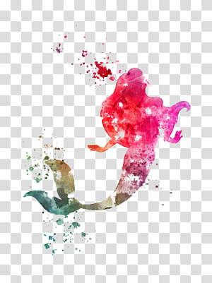 Ariel Putri Aurora Disney Putri Putri \ 'Kida \' Kidagakash Perusahaan Walt Disney, Mermaid, putri duyung cat air kanvas png