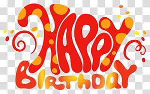 Kue ulang tahun, Teks Selamat Ulang Tahun Merah Lucu, ilustrasi teks selamat ulang tahun png