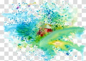 Warna Tinta, Warna keren memercikkan latar belakang warna cat, kartu grafis hijau, merah, dan biru png