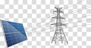 panel surya dan menara transmisi, menara Transmisi, pembangkit energi surya png