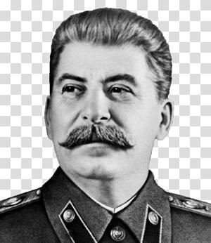 grayscale dari pria yang mengenakan kemeja berkerah, Joseph Stalin Rusia Rencana lima tahun untuk ekonomi nasional Uni Soviet Perang Dunia Kedua, Stalin png