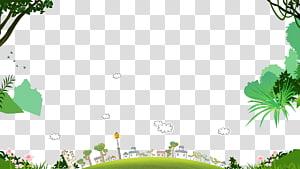 rumah putih dekat ilustrasi pohon, elemen latar belakang anak-anak PNG clipart