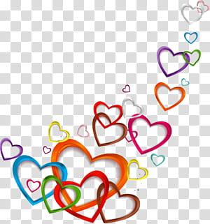 Cinta Euclidean, Cinta mengambang, stiker hati beraneka warna PNG clipart
