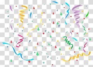 kue ulang tahun berwarna biru dan beraneka warna, Confetti png