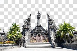 dekat pohon palem hijau di Pura, Museum Tanah Lot Bali Monumen Bajra Sandhi Kintamani, Bali, perjalanan Museum Bali png