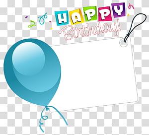 Kartu Ucapan Ulang Tahun, Stiker Selamat Ulang Tahun dengan Balon Biru, perbatasan Selamat Ulang Tahun png